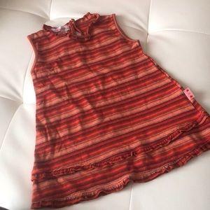 Clayeux dress orange stripe dress France 18M cute
